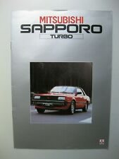 Mitsubishi Sapporo Turbo brochure Prospekt Dutch text 8 pages 1982