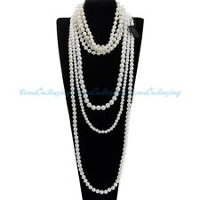 Fashion Women Jewelry White Pearl Chain Choker Statement Bib Pendant Necklace