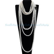 Fashion Women Jewelry White Pearl Chain Choker Statement Bib Pendant Necklace