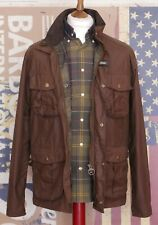 £219 Mens Barbour New Utility brown waxed jacket size S Small M 36 38