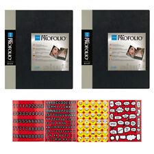 "Itoya Art Profolio Storage/Display Book 8.5"" x 11"" 2 Pack + Stickers"