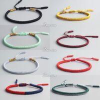 All models of Lucky Handmade Buddhist Knots Rope Bracelet Tibetan Adjustable