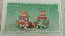 Longaberger Roger and Ginger Cookie Molds NIB