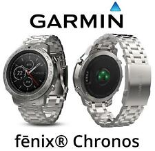 Garmin Fenix Chronos GPS Watch, Brushed Stainless Steel Band Wrist-based HR