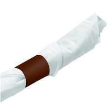 MH Paper 4.25 x 1.5 Brown Napkin Bands(1000) Self Adhesive Ships Free($0.011/pc)