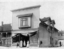 Photo. ca 1909. Nanaimo, BC Canada. Store - Victoria Rd and Kennedy St
