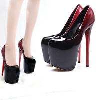 """5/"""" Noir Talons Compensés Drag Queen Sandales Homme Crossdresser Chaussures Taille 12 13 14"""
