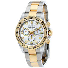 Rolex Cosmograph Daytona Mother of Pearl Diamond Steel and 18K Yellow Gold Mens