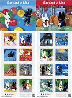 Japan 2019 Gaspard und Lisa Zeichentrickfiguren Paris Eiffelturm Postfrisch MNH