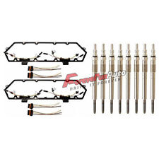 For Ford 94-97 Powerstroke 7.3L Diesel Glow Plug Set-Gaskets Harnesses + 8 Plugs