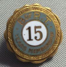 Brotherhood of Railroad Train Men B. of R.T. 15 Year Pin 1/10 10K Gold Filled