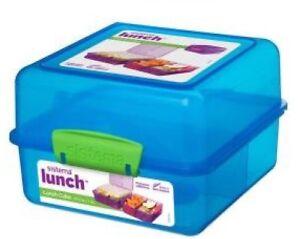 Sistema Lunch Cube 1,4 l BROTDOSE Brotbox dreifach unterteilt Farbauswahl