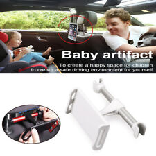 White Car Seat Rear Pillow Support Headrest Bracket SUV Phone Ipad Stand Holder