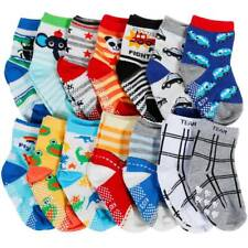 14 Pairs Boy100% Cotton  Girl ABS Anti Non Slip Baby Socks 6 months to 3 years