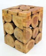 Teak Holz Beistell-Tisch / Hocker, Höhe ca. 39 cm