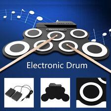 Electronic Drum Set Kit USB MIDI Roll Up Light Portable Educational