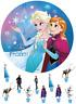 Eiskönigin Frozen Anna und Elsa Eßbar Tortenbild Party Deko Geburtstag neu Set