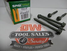Spax Screws Made in USA 1/2″ x 5″ Hex Washer Head Powerlags Exterior