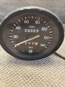 Alfa Romeo Spider 🕷 Speedometer VEGLIA BORLETTI. 140 MPH. OEM. Vintage.