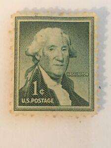 1954 Scott 1031 George Washington one 1 cent stamp