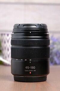 Panasonic Lumix G Vario 45-150mm f/4.0-5.6 Aspherical Mega O.I.S Lens with Caps