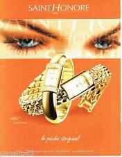PUBLICITE ADVERTISING 016  2002  SAINT HONORE  montres création Ophélia