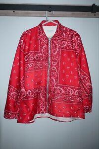 Christian Dior paisley zip up shirt