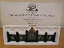 Dept 56 Heritage Village - Village Wrought Iron Gate & Fence - 9 Pc Set