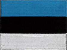 "Estonia Flag Embroidered Patch 12cm X 9cm(4 3/4"" X 3-1/2"")"