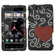 For Motorola DROID RAZR MAXX Crystal Diamond BLING Case Phone Cover Curve Heart