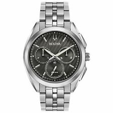 Bulova 96A186 Men's Curv Black Quartz Watch