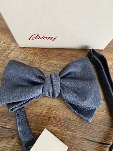 Brioni Bow Tie Bluette 100% Silk BNWT + Box RRP £150