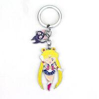 Sailor Moon Porte Clés Metal Figurine Usagi Tsukino & Luna Chibiusa  6 cm