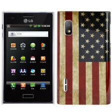 HardCase Backcover für LG E610 Optimus L5 Retro Flagge USA Schutzhülle Cover