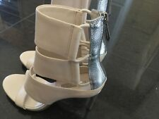 BCBGMaxazria New & Gen. Ladies Cream High Heeled Sandals UK 3.5, EU 36.5, US 6