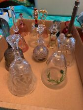 Lot of (14) Vintage Crystal/Cut Glass/Etched/painted bells