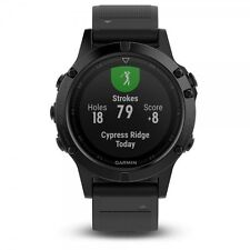 Garmin Fenix 5 Black Sapphire w/ Black Band GPS Multisport Watch - 010-01688-10