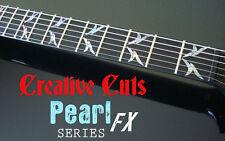 KK Slayer Tribal ABALONE Fret Marker Decals for BASS & GUITAR Custom B.C. Rich V