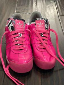 adidas Originals Rosado women's Samoa Hot Solar Pink White Size 9 Art c75456