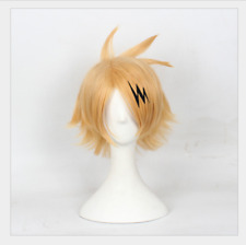 Hot Anime My Boku no Hero Academia Kaminari Denki Cosplay Costume Wig + Track