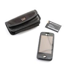 LG Cookie Fresh GS290 Handy, schwarz, ohne Simlock, Tasche