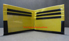 Handmade Duct Tape Wallet With Black and Yellow
