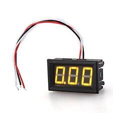 2x(Mini Pannelli Voltmetro Tester Digitale DC 0-100V Giallo 3 Cifre HK