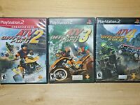 Sony PS2 Racing Video Game Lot ATV Offroad Fury 1 2 & 3 Tested Rainbow Studios