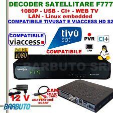 DECODER SAT HD S2 DIGIQUEST F777 LINUX,COMPATIBILE TIVUSAT E  TV SVIZZERA,WEB TV