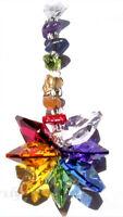 CHAKRA STAR Sun Catcher~Crystal Gemstone Healing Wicca Reiki Mobile Swarovski