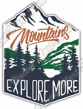 "Mountain Adventure Explore More Outdoor Car Bumper Vinyl Sticker Decal 4""X5"""