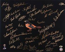 "JIM PALMER BOOG POWELL NOLAN FISHER MAY KNIGHT GARCIA +31 SIGNED ORIOLES 16""x20"""