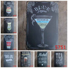 Retro Metal Sign Tin Poster Tavern Pub Bar Club Cafe Plate Paint Wall Home Decor