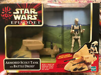 Armored Scout Tank with Battle Droid 1999 STAR WARS Episode 1 DELUXE